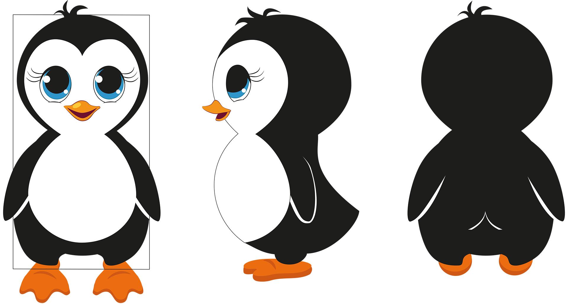 Illustration Ping Markenfigur für LikeIce von Gertraud Kirnbauer